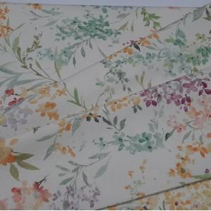 Ткань портьерная хлопок, Цветочки печать, h-2,8 м.