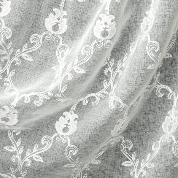 Лен вышивка 280 см - 603 белый